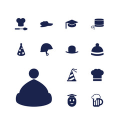 13 cap icons vector