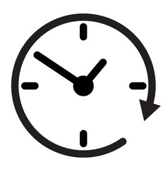 24 hour assistance clock clock iconclock icon vector image vector image