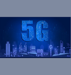 5g technology with circuit board is background 5g vector