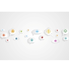 Abstract social communication icons background vector