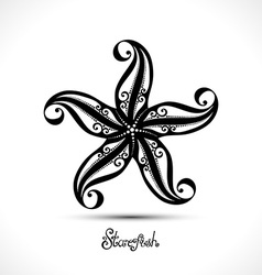 Abstract starfish vector