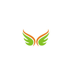abstract wing logo vector image