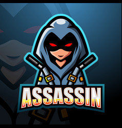 Assassin mascot esport logo design vector