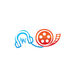 Audio and video icon vector