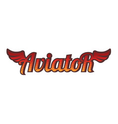Aviator logo sign icon theme red wing vector