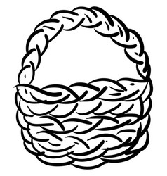 basket drawing on white background vector image