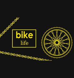 bicycle poster wheel bike vector image