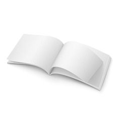 Blank open magazine template Wide format vector image