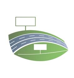 Blue road vector image