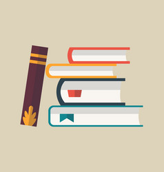 books in a stack colorful books icon vector image