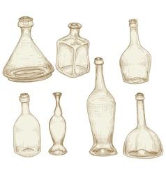 bottles drawings vector image