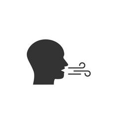 Breath breathing icon flat vector