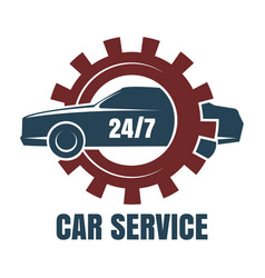 car repair service logo vector image