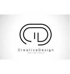 Cd c d letter logo design in black colors vector