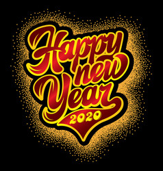 color template with stylish inscription new year vector image