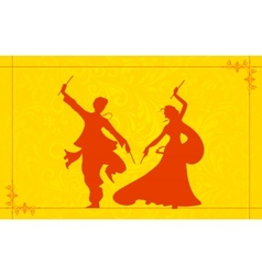 Couple playing Garba vector