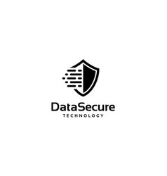 data secure technology logo design concept vector image