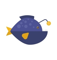 Decorative Fish flat icon isolated vector image