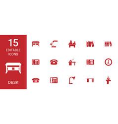 Desk icons vector
