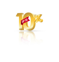 Discount up to 10 template design vector