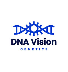 Dna eye vision helix genetic logo icon vector