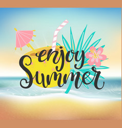 enjoy summer beach party vector image