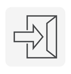 exit icon black vector image