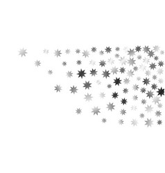 falling stars on a white background vector image