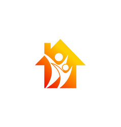 family house realty logo vector image