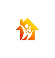 Family house realty logo vector