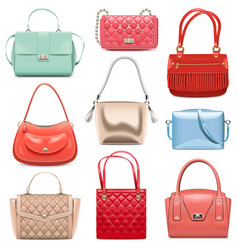 Fashion handbags vector