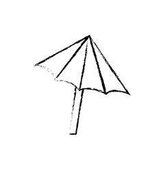 Figure nice umbrella open to protect of sun vector