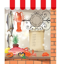 Fish store vector