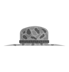 Fishing hat icon black monochrome style vector
