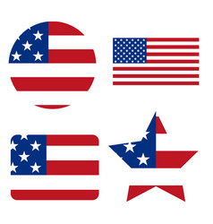 flag united states america solid vector image