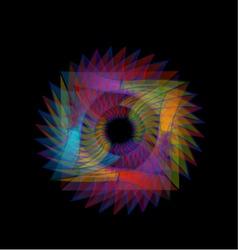 Fractal geometrical design element vector image