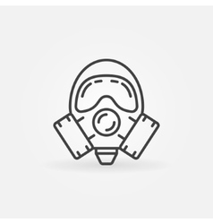 Gas mask line icon vector