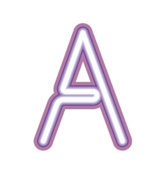Glowing neon letter A vector