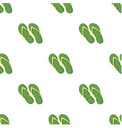 Green flip-flops icon in cartoon style isolated on vector