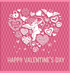 greeting card to st valentines day with a big vector image