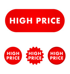 high price button vector image