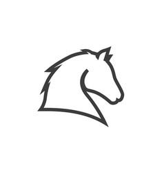 horse head line icon images vector image