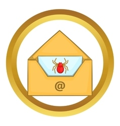 Infected email icon vector