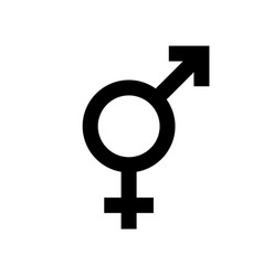 Intersex symbol isolated on white gender icon vector