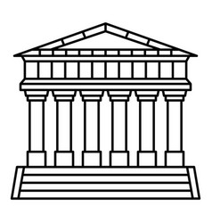 italian temple icon outline style vector image