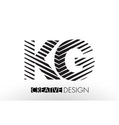 Kg k g lines letter design with creative elegant vector