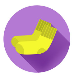 Light yellow socks on a violet background vector