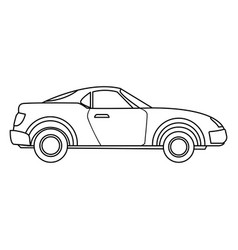 luxury car automobile transport expensive vector image