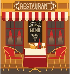 Modern flat design of restaurant vector
