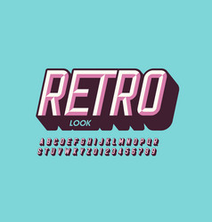 Modern retro style font vector